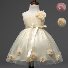 Wholesale Princess Clothing For Toddler Girls - Baby Baptism Dress For Flower Girls Princess Toddler Newborn First Birthday Party Children Clothes Holy Baptism Dresses