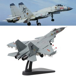 Wholesale Flying J - Terebo 1:100 Scale Military Model J-15 Flying Shark Fighter Attacker Plane Model Toys For Commemorate Collection Gift Home Office Decoration