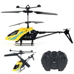 Wholesale Rc Brushless Motors - Mini RC Helicopters With Light Music Shatter Resistant 2.5CH Flight Toys Remote Control With Gyro System Flying Quadcopter +NB
