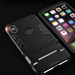 Wholesale Silicone Rubber Iphone Robot - For iPhone X Silicone Robot Armor Protector Hybrid Rugged Rubber Cover For iPhone X 10 Kickstand Defender Case
