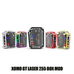 Wholesale Laser Lights Wholesale - Autnentic XOMO GT LASER 255 BOX MOD Built In 3500mAh Battery VV VW 150W Mods With LASER Flashing Lights