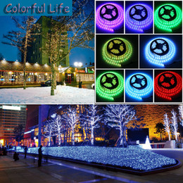 Wholesale Led Power Cans - 25M 5m roll RGB 5050 SMD Flexible Waterproof Led Strip Light +24Key Remote+5A Power Supply Outdoor strip indoor strip can use directly