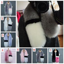 Wholesale Fox Fur Scarves - Womens winter scarf luxury brand scarves fox fur scarfs foulards echarpe hiver femme fulares mujer schal YYA647
