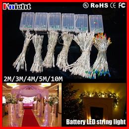 Wholesale Christmas Led Lights Curtain 2m - 2M 3M 4M 5M 10M led light AA battery,20 30 40 50 80 LEDS String Lights,wedding Decoration Fairy string Light holiday wholesaler 20pcs a lot