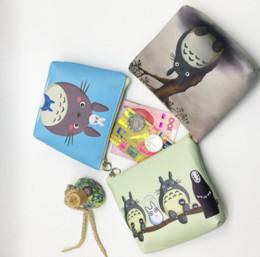 Wholesale Women S Card Holder - Wholesale- Cute Cartoon Totoro Zipper Pouch Women Mini Korean Wallet Clutch PU Coin Purse Waterproof Card Holder Kawaii Children 's Wallet