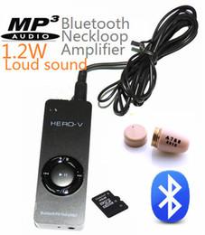 Wholesale Earpiece Mp3 Wireless - 2016 MP3+ Bluetooth Amplifier Loud sound Neckloop loopset with new screw A780 Covert Wireless Earpiece Earphone