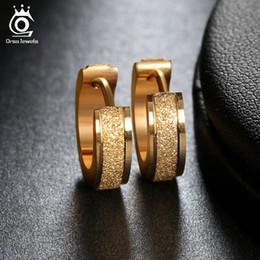 Wholesale Punk Rock Earrings - Factory Price Stainless Steel Earrings Pendientes Jewelry 2017 Round Hoop Women or Men Punk Rock Earrings GTE01