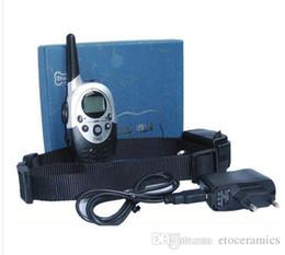Wholesale Sound Collars - 2013 LCD 100LV 1000 Meter Shock Vibra Sound Remote Pet Dog Training Collar 130lb