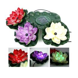 Wholesale Underwater Solar Lights - Beautiful Solar Lotus Light Flower RGB LED Underwater Light Water Float Light for Swimming Pool Pond Lighting