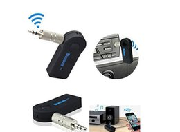 Wholesale Home Music - Wireless Car 3.5mm Aux Plug Bluetooth Car Kits Receiver Speaker Headphone Adapter Audio Stereo Music Receiver Home Handsfree FM Transmitter