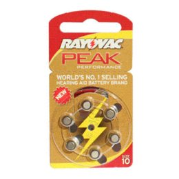 Wholesale Candle Performance - 60 PCS Rayovac Peak Performance Hearing Aid Batteries. Zinc Air 10 A10 PR536 Battery for CIC Hearing aids. !