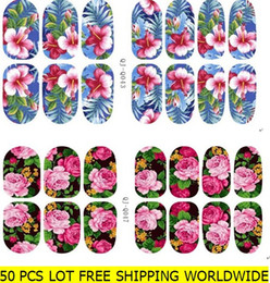Wholesale Glow Nail Wraps - Nail art stickers elk and flowers glow in the light self adhesive nail wraps nail foils nail decals bling glitter nail beauty accessories