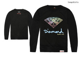 Wholesale Free Designer Clothes - Diamond supply co T-shirts Men's Hip Hop Printing Clothing designer long sleeve o-neck Tee shirts cotton Autumn free shipping