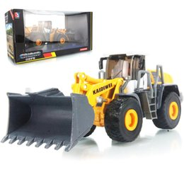 Wholesale Kaidiwei Models - KAIDIWEI 1:50 scale alloy engineering vehicle model four wheel loader forklift heavy forklift toy car kid toys gift