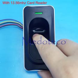 Wholesale Fingerprint Readers - Wholesale- FR1200 RS485 Fingerprint & 13.56mhz IC card reader waterproof fingerprint slave reader work with inbio160 inbio260 Inbio460 F18