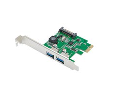 Wholesale Hot Expansion - New 2 Ports USB 3.0 To PCI-E Card PCI Express Expansion Card Adapter VIA 5Gbps for Desktop hot sale