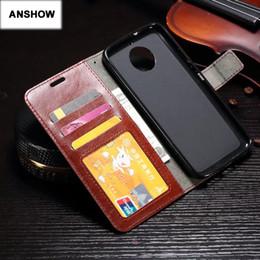 Wholesale Black Book Photos - Retro PU Crazy Horse Leather Wallet Case For Moto G5S Plus E4 Plus Frame Photo Card Slot ID Stand Flip Cover Book Purse Pouch