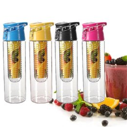 Wholesale Bpa Free Travel Water Bottle - Flip Lid 800ml Fruit Juice Infuser Infusing Sports Water Bottle Health Flip Lid Bpa Free Fruit Crusher Artifact Fruit Cup