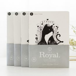 Wholesale Book Blank Pages - Wholesale- Fashion Creative Gift The Cat Feast A5 Notebook Sketch Book 80 Blank Pages Note Book Arts Supplies Cute School Stationery