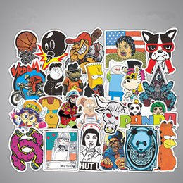 Wholesale Windows Pc Laptop - 50 pcs Car Stickers Home Funny Skateboard Motorcycle Laptop Stickers Car covers DIY Vinyl Decal Bomb styling Sticker