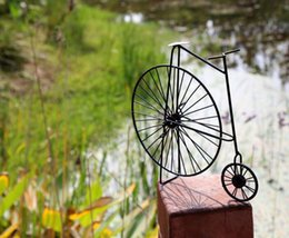 Wholesale Decor Bicycles - creative zakka crafts handmade black children's memeory classic bicycle bike model iron coffee bar home decor