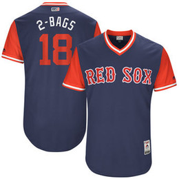 Wholesale Authentic Sport Bag - Baseball Jerseys Mlb Sports Boston Red Sox Mitch Moreland 2-Bags Majestic Navy 2017 Players Weekend Authentic Jersey Throwback Cheap Custom