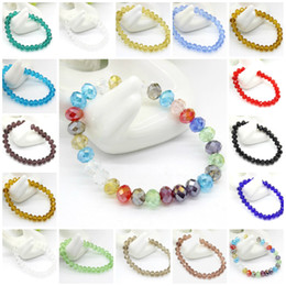 Wholesale diamante bracelets - Charm Bracelets Faceted Crystal Bead Silver Plated Diamante Rhinestone Beaded Stretch Bracelet Woman Jewelry Gift Bead Crystal Bracelets