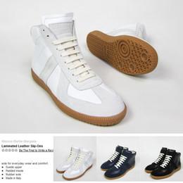 Wholesale Mens Hip Hop Shoes - Margiela Promotion Fashion Sneakers Genuine Leather Hi-Stree Hip Hop Casual Men Sports Shoes 39-46 Plus Size Mens Sneakers Shoes Wholesale