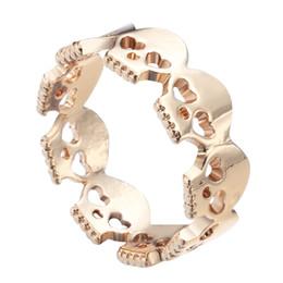 Canada 10 pcs / lot Or Plaqué Coeur Crânes Anneaux Rock N Rouleau Skull Squelette Anneaux pour les Femmes 2016 Bague Homme Livraison Gratuite cheap animal roll Offre