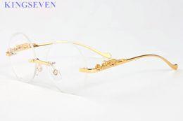 Wholesale Yellow Man Sunglasses Circle - luxury brand sunglasses for women buffalo horn glasses rimless men gold metal frame round square circle rectangle eyewear sunglasses