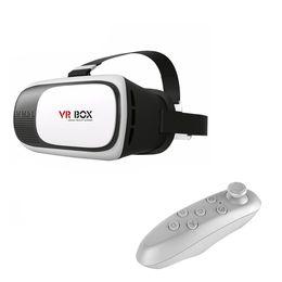 Langboss VR BOX 2.0 3D-Brille für IOSAndroid Smartphone Virtual Reality 3D-Videobrille + Bluetooth Remote Gamepad von Fabrikanten