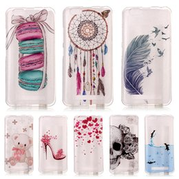 Wholesale Silicone Vibe - Colorful Flower Bear Printed TPU Phone Case For Lenovo K6 K5 Case New Silicone Cover For or Lenovo Vibe C A2020 Vibe C2