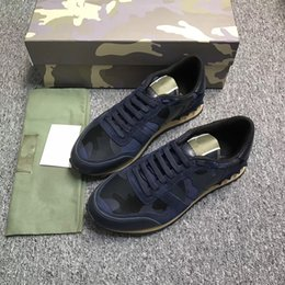 Wholesale Pirate Bands - double box kamatiti PU+RB Sole best quality shoes Pirate Black Green Suede Moonrock Oxford Tan Running shoes snakers with bag. size 35-44