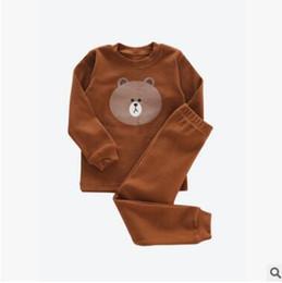 Wholesale Fox Pajamas - Kids Christmas Pajamas for Baby Boys Girls Long Sleeve Cartoon Totoro Fox Bear Pyjamas Sleepwear Girls Nightwear Top Quality Baby Pyjamas