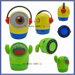 Wholesale Minions Dolls - JY-WT Big Eye Doll Cute Cartoon Minions Mini Bluetooth Wireless Speaker Portable Best Sound Subwoofer With Hands-free MIC TF Card USB Disk