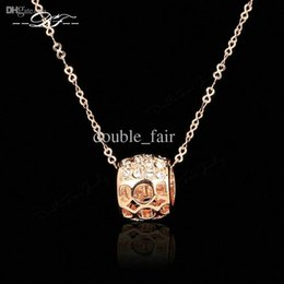 Wholesale Elegant Vintage Necklaces Chain - Elegant OL Style Cubic Zirconia Necklaces & Pendants Gold Plated Brand Vintage Jewelry For Women Chains Accessiories DFN239