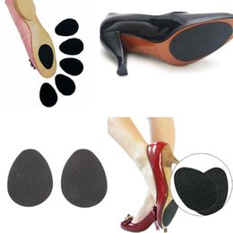 Wholesale Sole Shoe Sticker - Anti-Slip Self-Adhesive Shoes Mat High Heel Sole Protector Rubber Pads Cushion Non Slip Insole Forefoot High Heels Sticker