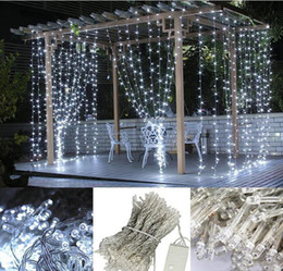 Wholesale Twinkle Light Party Curtains - 110V 220V With Plug LEDs String Lights Decorating Christmas ,Holiday,Party, Wedding 10M 100LEDS Twinkle LED Curtain Lights