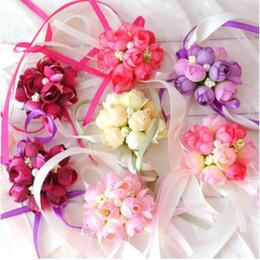 Demoiselle d'honneur en tissu de fleurs de style coréen de fleurs de poignet de mariée de mariage de style coréen ? partir de fabricateur
