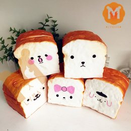 Wholesale Squishy Cartoon Toasts - Wholesale-Slow Rising New Styles Cartoon Face Sliced Toast Holder Squishy