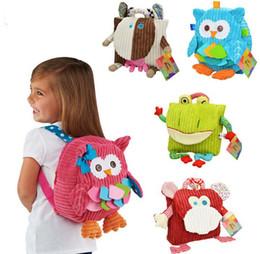 Wholesale Frog Fabrics - Sozzy Children Backpack Bag Kindergarten Girls Boys Gifts Cute Cartoon Toys Kid Owl Cow Frog Monkey School Bags