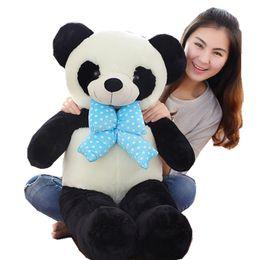 Wholesale Giant Stuffed Animals For Kids - Giant Soft Panda Stuffed Animal Toys Soft Cuddly Cartoon Panda Doll Pillow Present for Friends Kids 120cm 100cm