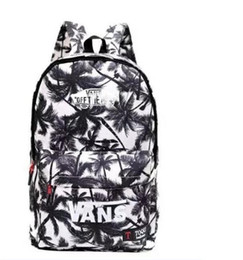 Wholesale Interior Design Prints - New Canvas Print Waterproof Backpacks Casual Zipper Closure Knapsack Bags Women's Double Shoulder Bags Top Quality New Design fashion solid