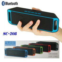 altavoz caliente Rebajas Venta caliente altavoz inalámbrico portátil SC 208 Bluetooth 4.0 TF USB Radio FM Doble altavoz Bluetooth Bajo sonido Subwoofer Altavoces