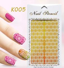 Wholesale Wholesale Vinyl Stencils - Nail art nail art template sticker cut out stencil guild DIY nail stamping polish guild cut out vinyl stickers 62 styles