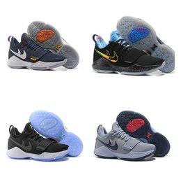 Wholesale Element Shoes - Paul George PG1 Elements Flip the Switch EYBL Home PE Glacier Grey Black Ice Ivory The Bait Blockbuster Light Aqua Basketball Shoes