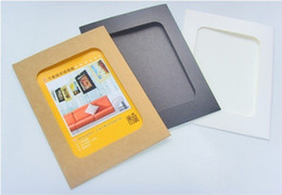 Wholesale Vintage Picture Frames Wholesale - New Arrive 10 boxes 6 inch paper photo frames for pictures Vintage frame photo DIY baby photo frame wedding photo frame wall