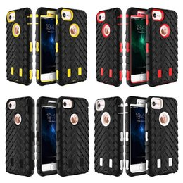 Wholesale Heavy Duty Mobile - For iPhone 7 4.7   7 Plus Rubber Rugged Hybrid Heavy Duty Anti fall Shockproof Mobile Phone Case Cover