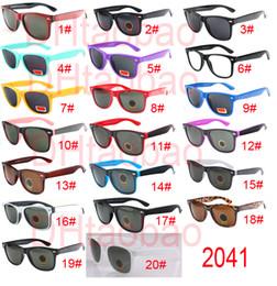 Wholesale Designer Sunglasses Uv - High quality Brand Designer Fashion Men Sunglasses UV Protection Outdoor Sport Vintage Women Sun glasses Retro Eyewear 20colors free ship