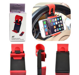 Volant pour vélos en Ligne-Universal Car Streeling Support de berceau de direction SMART Clip Car Bike Mount pour mobile iphone samsung Cell Phone GPS Christmas Gift